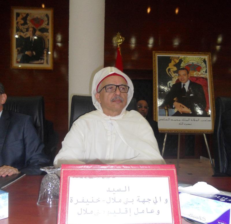 صورة تنصيب محمد دردوري أول وال على جهة بني ملال خنيفرة