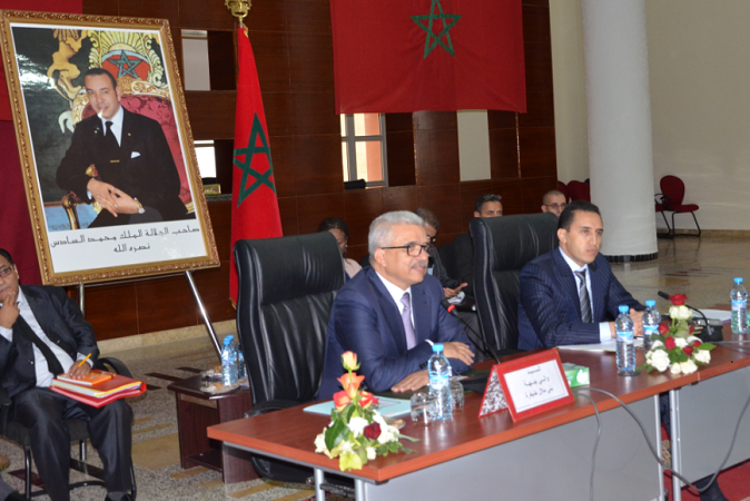 صورة دورة استثنائية لمجلس جهة بنى ملال خنيفرة للمصادقة على ميزانية التسيير