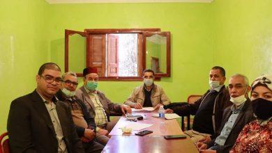 صورة علال البصراوي نقيب هيأة المحامين بخريبكة  وكيلا للائحة حزب الوردة  بدائرة بزو- واويزغت