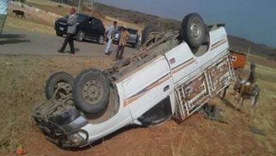 صورة حادثة سير بجماعة آيت امحمد تودي بحياة راكبين كانا على متن السيارة