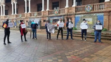 صورة جمعية المهاجرين بالأندلس وأوروبا تنظم وقفة احتجاجية بإشبيلية وتطالب بمحاكمة زعيم ميليشيات البوليساريو